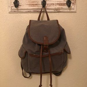 G.H. Bass canvas bag with vegan leather details
